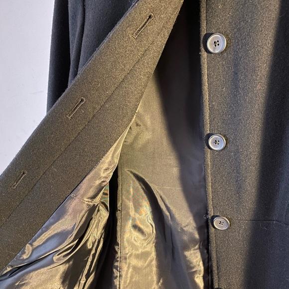 Merona long jacket coat black wool women